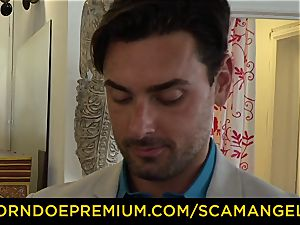 SCAM ANGELS - american babes plumb pound dude in scorching FFM