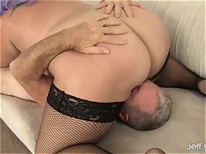 whorish plus-size Jade Rose intensively porked